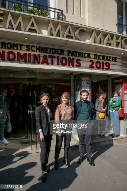 Diane Rouxel Alice Isaaz and William Lebghil attend the 37th Romy Schneider And Patrick Dewaere Awards Nominee Luncheon At Cinema Le Mac Mahon on...