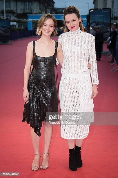 """Diane Rouxel and Christa Theret attend the """"In Dubious Battle"""" Premiere during the 42nd Deauville American Film Festival on September 5, 2016 in..."""
