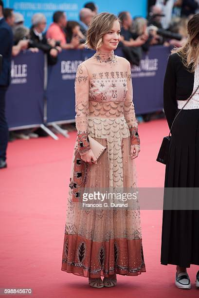 Diane Rouxel arrives at the opening ceremony of the 42nd Deauville American Film Festival on September 2 2016 in Deauville France