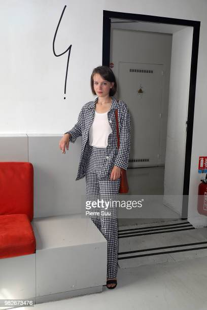 Diane Rouxel attends the Agnes B Menswear Spring/Summer 2019 show as part of Paris Fashion Week on June 24 2018 in Paris France