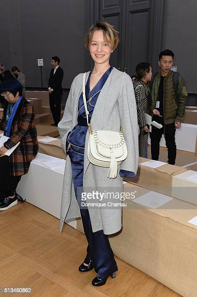 Diane Rouxel attends the Chloe show as part of the Paris Fashion Week Womenswear Fall/Winter 2016/2017 on March 3 2016 in Paris France