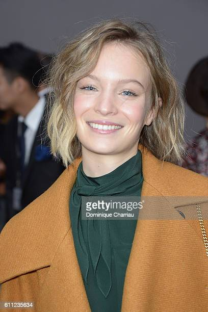 Diane Rouxel attends the Chloe show as part of the Paris Fashion Week Womenswear Spring/Summer 2017 on September 29 2016 in Paris France