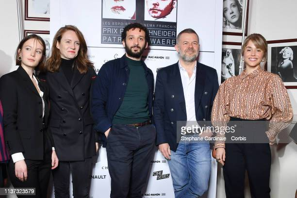 Diane Rouxel Sophie Brafman William Lebghil Eric Naulleau and Alice Isaaz attends the 37th Romy Schneider And Patrick Dewaere Awards Nominee Luncheon...