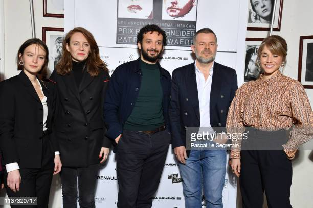 Diane Rouxel Sophie Brafman William Lebghil Eric Naulleau attend the 37th Romy Schneider And Patrick Dewaere Awards Nominee Luncheon At Cinema Le Mac...