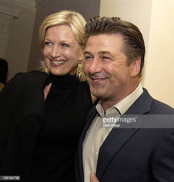 Diane Sawyer and Alec Baldwin during CNBC Hosts Reception to Celebrate Tina Brown and David Faber Primetime Specials at The Georgian Suite in New...
