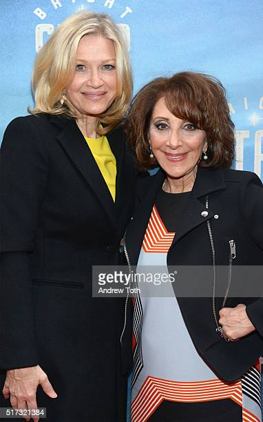 Diane Sawyer and Andrea Martin attend the Bright Star opening night on Broadway on March 24 2016 in New York City