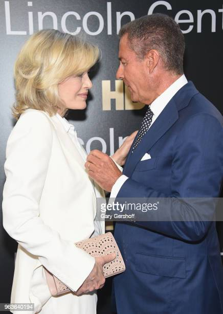 Diane Sawyer and event honoree Chairman CEO of HBO Richard Plepler attend the 2018 Lincoln Center American Songbook gala honoring HBO's Richard...