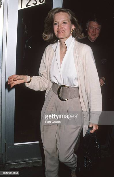 Diane Sawyer and Mike Nichols during Premiere Party For In The Spirit at Rick Newman Restaurant in New York City NY United States