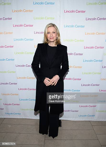 Diane Sawyer arrives at Lincoln Center's American Songbook Gala Honors Lorne Michaels at Lincoln Center for the Performing Arts on February 11 2016...
