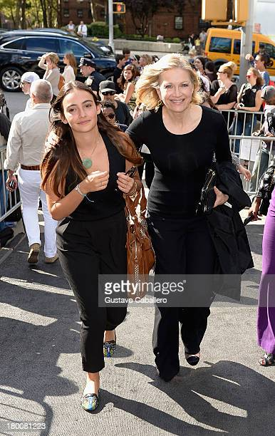 Diane Sawyer attends day 4 of MercedesBenz Fashion Week Spring 2014 at Lincoln Center for the Performing Arts on September 8 2013 in New York City