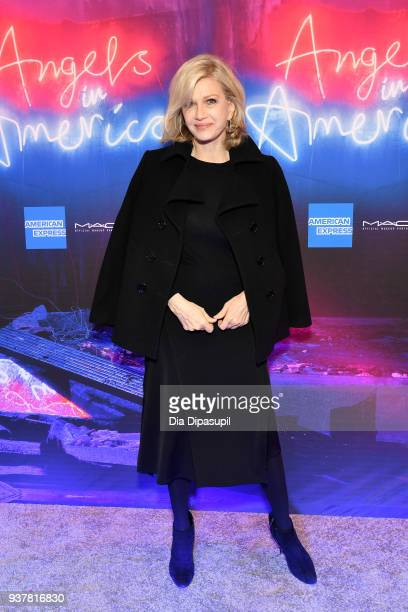 Diane Sawyer attends the 'Angels in America' Broadway Opening Night part 1 arrivals at the Neil Simon Theatre on March 25 2018 in New York City