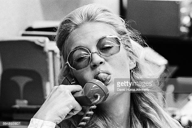 Diane Sawyer during her time working as an assistant in the White House press office circa 1970 in Washington DC