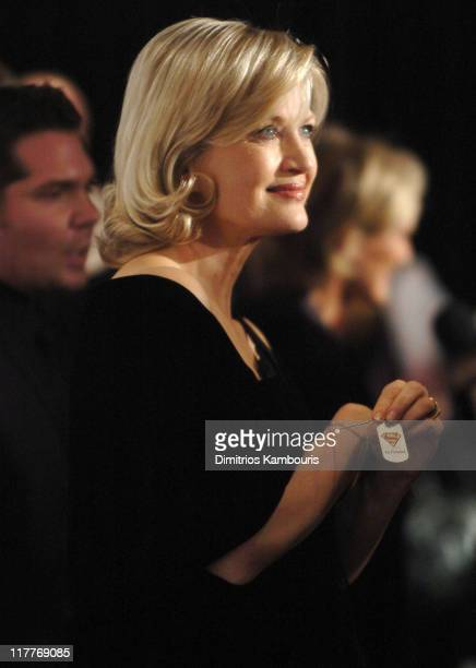 """Diane Sawyer during The Christopher Reeve Foundation's """"A Magical Evening"""" - Red Carpet at Marriott Marquis in New York, New York, United States."""