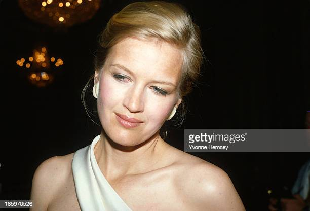 Diane Sawyer is photographed at Gloria Steinem's 50th birthday celebration May 23 1984 in New York City