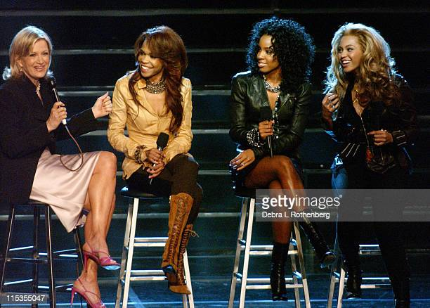 Diane Sawyer Michelle Williams Kelly Rowland and Beyonce Knowles of Destiny's Child