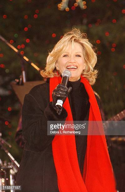 Diane Sawyer of Good Morning America chats with Whitney Houston after Ms Houston performed 3 songs outside Lincoln Center NYC on Sunday December 8...