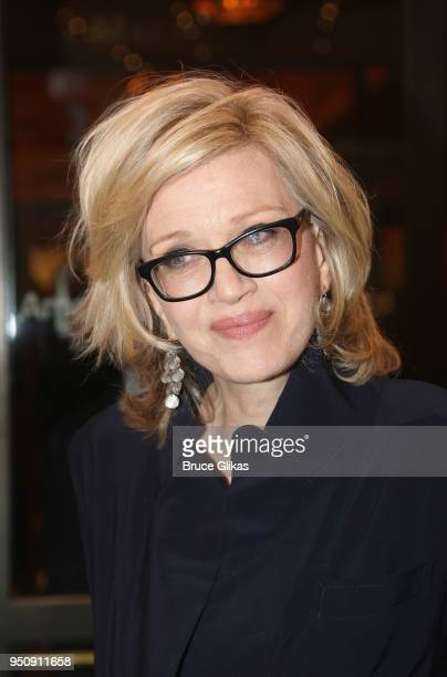 Diane Sawyer poses at the opening night of Tom Stoppard's play Travesties on Broadway at The American Airlines Theatre on April 24 2018 in New York...