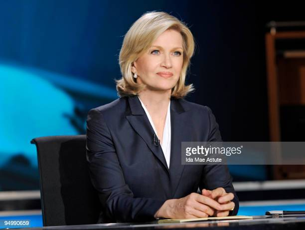 Diane Sawyer sits on the set of World News With Diane Sawyer during the nationally televised news brief at the Walt Disney Television via Getty...