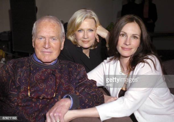 Diane Sawyer talks to Paul Newman and Julia Roberts on Good Morning America about an upcoming benefit and charity auction for Newmans's non-profit...