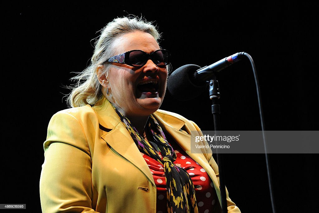 Diane Schurr performs during Torino Jazz Festival at Piazza Castello on April 26, 2014 in Turin, Italy.