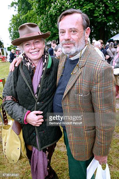 Diane Strydonck and Louis Benech attend the Days of Plants 2015 : From Courson To Chantilly ! Held at Chateau de Chantilly on May 15, 2015 in...