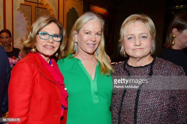 Diane Tuft Anne Hearst McInerney and Lorraine Boyle attend Anne and Jay McInerney Host Cocktails to Celebrate Amanda Hearst and Ethical Fashion...