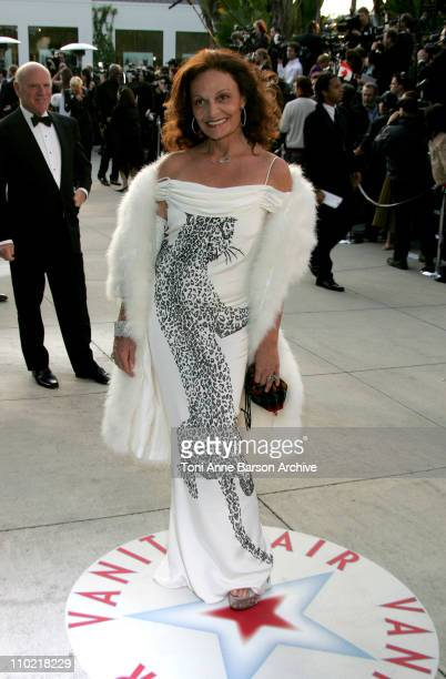 Diane von FUerstenberg during 2005 Vanity Fair Oscar Party Arrivals at Mortons in Los Angeles California United States