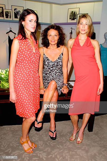 Diane von Furstenberg Agatha Relota and Caroline Forsling
