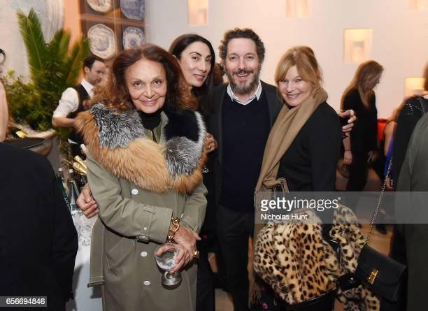 Diane von Furstenberg Ahn Duong Guillaume Gallienne and Anne McNally attends the Cezanne Et Moi New York premiere after party at the Whitby Hotel on...