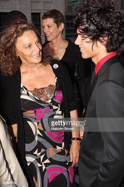 """Diane Von Furstenberg and Alexander Assouline attend the book signing and cocktail party for Assouline's book """"Veruschka"""" at the MINI Rooftop NYC on..."""