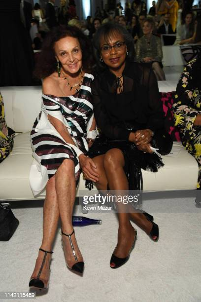 Diane von Furstenberg and Anita Hill attend 10th Annual DVF Awards at Brooklyn Museum on April 11 2019 in New York City