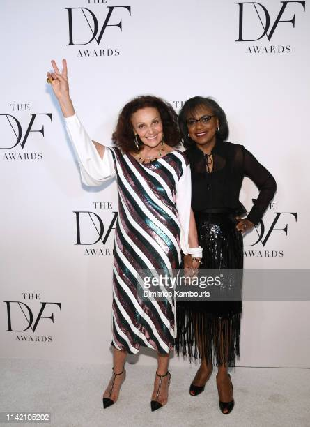 Diane von Furstenberg and Anita Hill attends 10th Annual DVF Awards at Brooklyn Museum on April 11 2019 in New York City