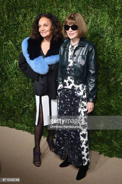 Diane von Furstenberg and Anna Wintour attend the 14th Annual CFDA/Vogue Fashion Fund Awards at Weylin B Seymour's on November 6 2017 in the Brooklyn...
