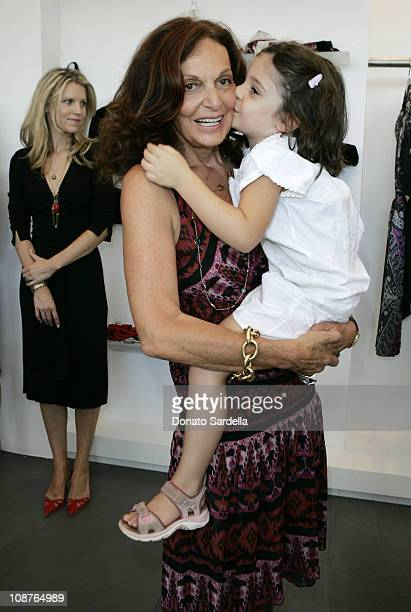 Diane Von Furstenberg and Antonia Steinberg during Diane von Furstenberg Los Angeles Store Opening Luncheon at Diane von Furstenberg Boutique in Los...