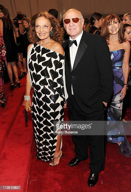 """Diane von Furstenberg and Barry Diller attend the """"Alexander McQueen: Savage Beauty"""" Costume Institute Gala at The Metropolitan Museum of Art on May..."""