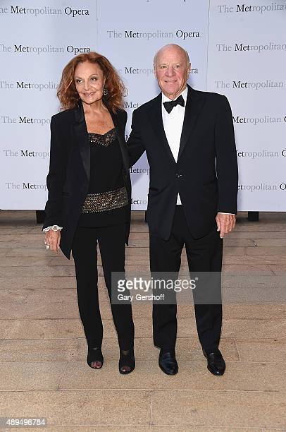 Diane von Furstenberg and Barry Diller attend the Metropolitan Opera 20152016 Season Opening Night's production of 'Otello'at The Metropolitan Opera...