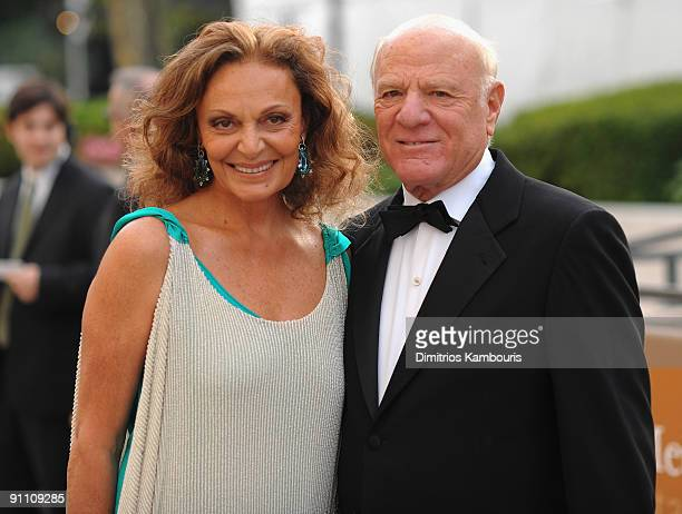 Diane Von Furstenberg and Barry Diller attend the Metropolitan Opera 200910 season opening night at Lincoln Center for the Performing Arts on...