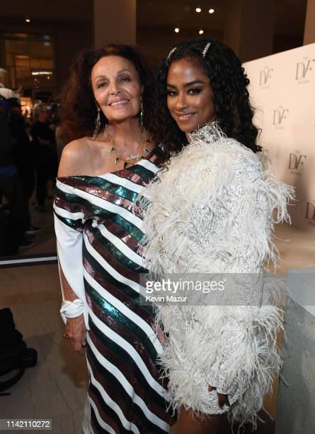 Diane von Furstenberg and Dj Vashtie attend 10th Annual DVF Awards at Brooklyn Museum on April 11 2019 in New York City