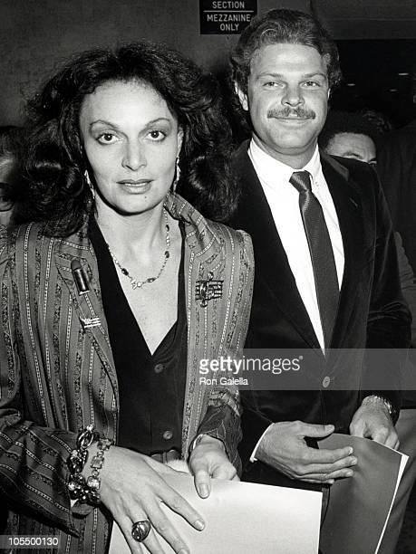 Diane von Furstenberg and Egon von Furstenberg during Electric Horseman Premiere at Loews Astor Plaza Theater in New York City New York United States