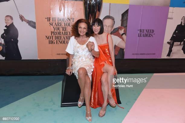 Diane von Furstenberg and Eva Chen attend the 2017 CFDA Fashion Awards at Hammerstein Ballroom on June 5, 2017 in New York City.