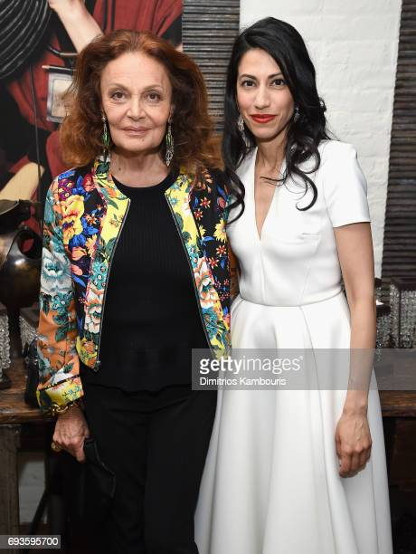 Diane von Furstenberg and Huma Abedin attend the 2017 Stephan Weiss Apple Awards on June 7 2017 in New York City
