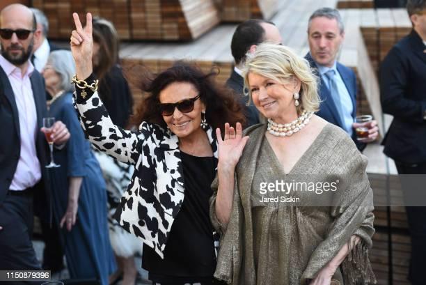 Diane von Furstenberg and Martha Stewart attend the 2019 High Line Spring Benefit on May 21 2019 in New York City