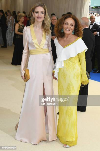 Diane von Furstenberg and Natalia Vodianova attend the 'Rei Kawakubo/Comme des Garcons Art Of The InBetween' Costume Institute Gala at Metropolitan...