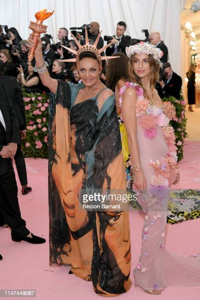 Diane von Furstenberg and Talita Von Furstenberg attend The 2019 Met Gala Celebrating Camp: Notes on Fashion at Metropolitan Museum of Art on May 06,...