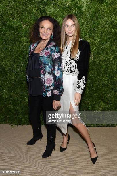 Diane von Furstenberg and Talita von Furstenberg attend the CFDA / Vogue Fashion Fund 2019 Awards at Cipriani South Street on November 04, 2019 in...