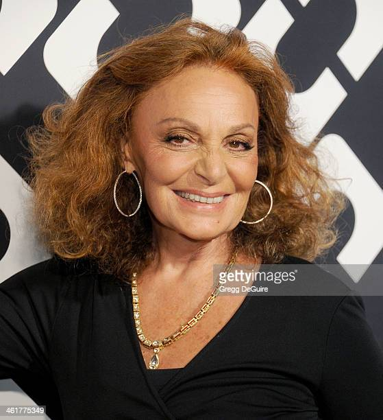Diane von Furstenberg arrives at Diane Von Furstenberg's 'Journey Of A Dress' premiere opening party at Wilshire May Company Building on January 10...
