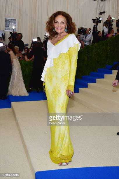 Diane von Furstenberg arrives at 'Rei Kawakubo/Comme des Garcons Art Of The InBetween' Costume Institute Gala at The Metropolitan Museum on May 1...