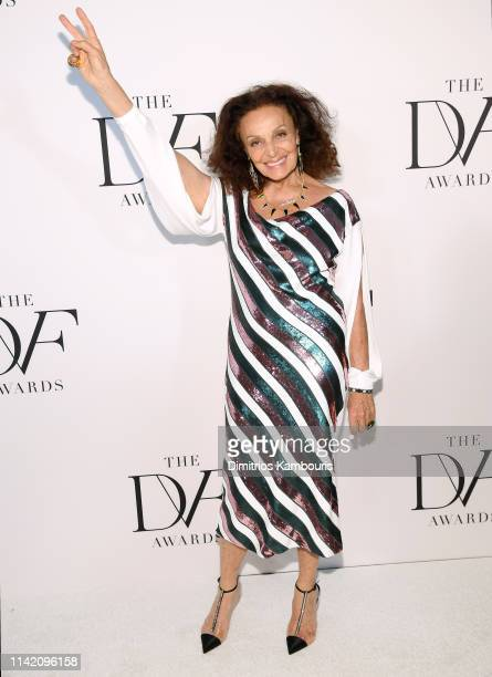 Diane von Furstenberg attends 10th Annual DVF Awards at Brooklyn Museum on April 11 2019 in New York City