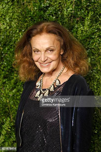 Diane von Furstenberg attends 13th Annual CFDA/Vogue Fashion Fund Awards at Spring Studios on November 7 2016 in New York City