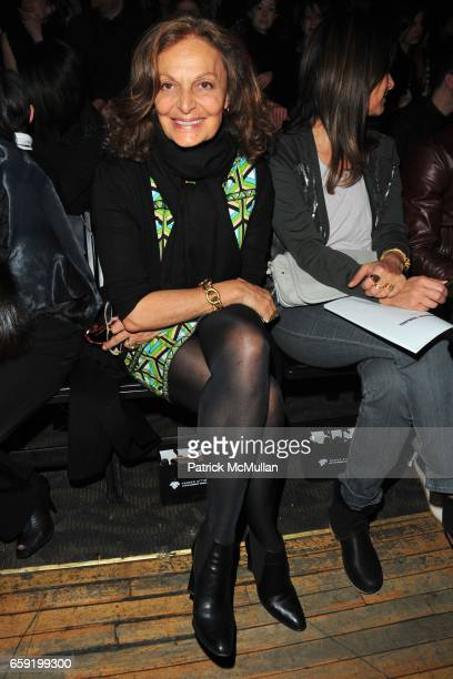 Diane von Furstenberg attends ALEXANDER WANG Fall 2009 Collection at Roseland Ballroom on February 14, 2009 in New York City.